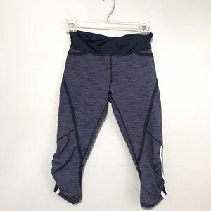 LULULEMON Yoga Run Crop Pants Ladies Size 4 Ruched